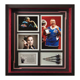 Signed Phil The Power Taylor World Champion Framed Print & Darts Display