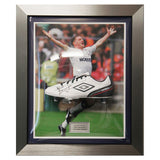 Paul Gascoigne Gazza Spurs Signed Umbro Football Boot Framed - Tottenham + COA