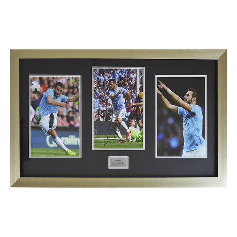 Signed ?Álvaro Negredo Man City Framed Photo Football Montage