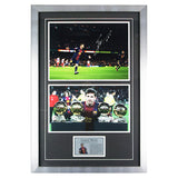 Lionel Messi Signed FC Barcelona Framed Football Photo 3 - Photo Proof & COA