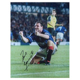 Signed Gazza Paul Gascoigne Glasgow Rangers Football Large Photo Print