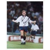 Signed Paul Gascoigne England Football Celebration Large Photo Print - Spurs