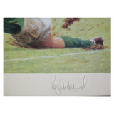 Signed Rory Underwood England Rugby Limited Edition Print - In Full Flight + COA