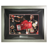 Hand Signed Iron Mike Tyson Boxing Glove in Large Dome Display Champ - Baddest 2