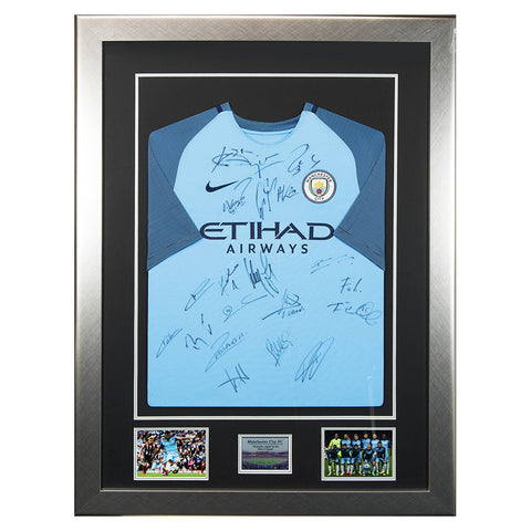 Signed Man City 2016-2017 League Champions Shirt - Manchester City FC
