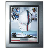 Signed Valtteri Bottas Williams Martini Racing F1 Cap Framed Display