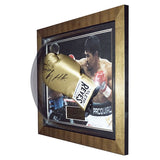 Signed Manny Pacquiao & Ricky Hatton Reyes Boxing Glove Display Gold