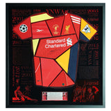 Signed Steven Gerrard Liverpool FC Shirt Montage - Exclusive Framed LED Display