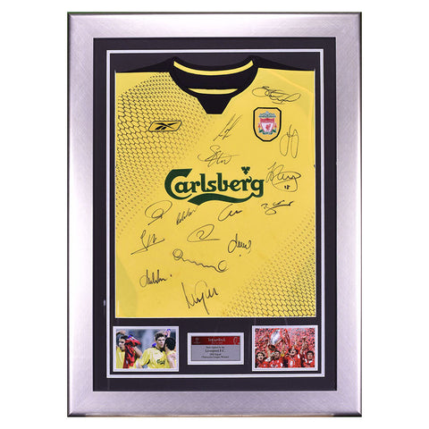 2005 Liverpool squad signed Away shirt