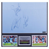 Man City Signed & Framed Shirt by David Silva, Kompany, Aguero