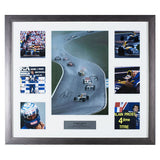 Signed Alain Prost Framed Photo Montage - Williams F1