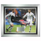 Signed Cristiano Ronaldo Framed Black CR7 Boot - Real Madrid