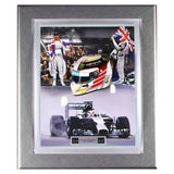Signed Lewis Hamilton Mercedes AMG 1/2 Scale 2014 Helmet Framed Display