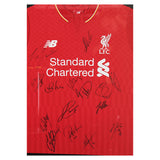 Liverpool FC Squad Signed 2015-16 Framed Shirt
