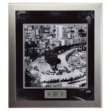 Signed Sir Stirling Moss Monaco Framed Montage - Large Monaco F1