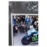 Signed Valentino Rossi Yamaha Photo Framed Deluxe MotoGP Display
