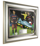 Signed Lionel Messi 2015-16 Framed Adidas Boot - Barcelona