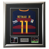 Signed Neymar 2015/16 Barcelona Framed Shirt