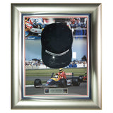 Signed Nigel Mansell Williams F1 Framed Cap Display