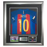 Signed Lionel Messi Barcelona 2016-17 Shirt - Framed Display