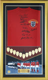 Signed 1966 England Framed World Cup Shirt by 10 players - Limited Edition