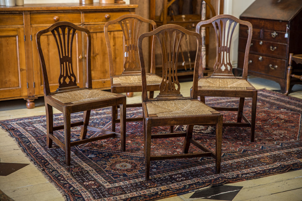 Set Of Four Georgian Fruitwood Chairs
