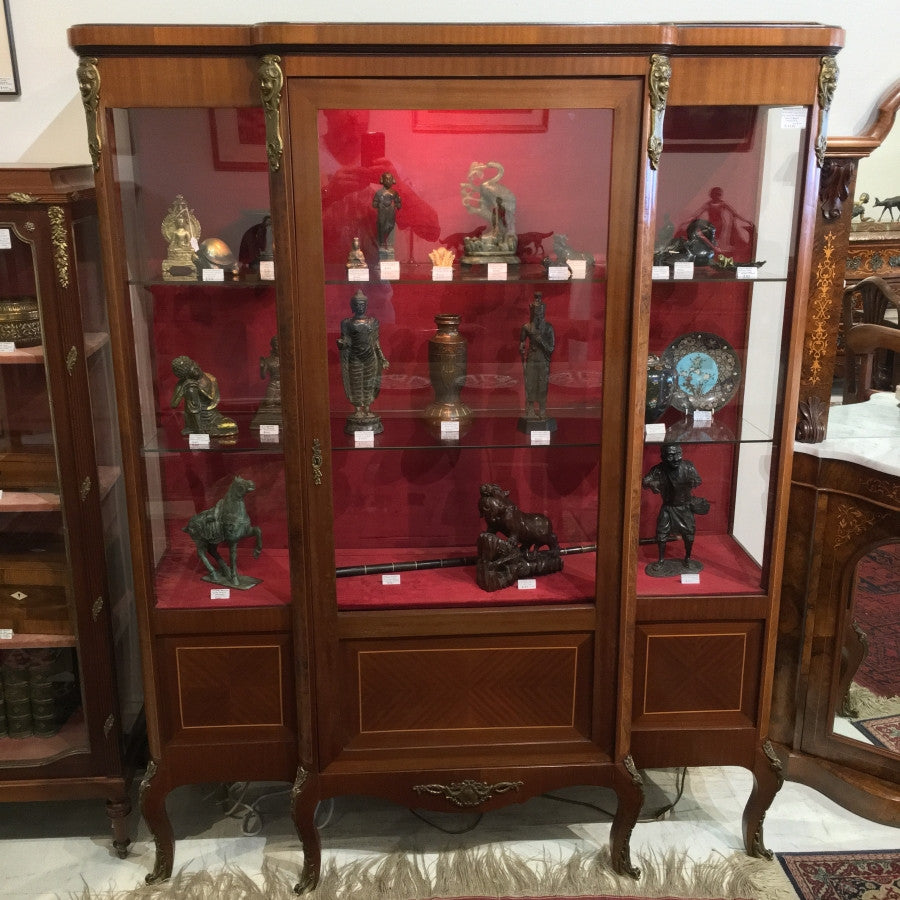 SOLD - French Walnut Display Cabinet