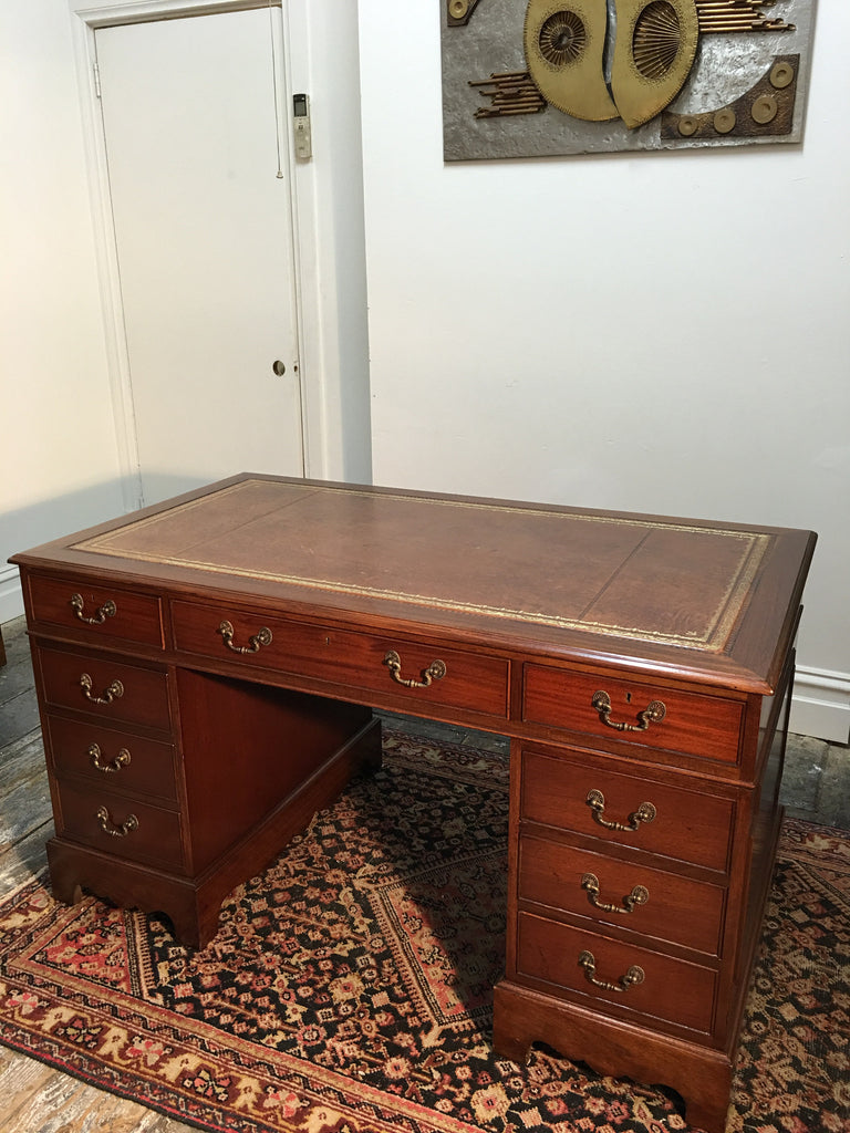 SOLD - Mahogany Pedestal Desk