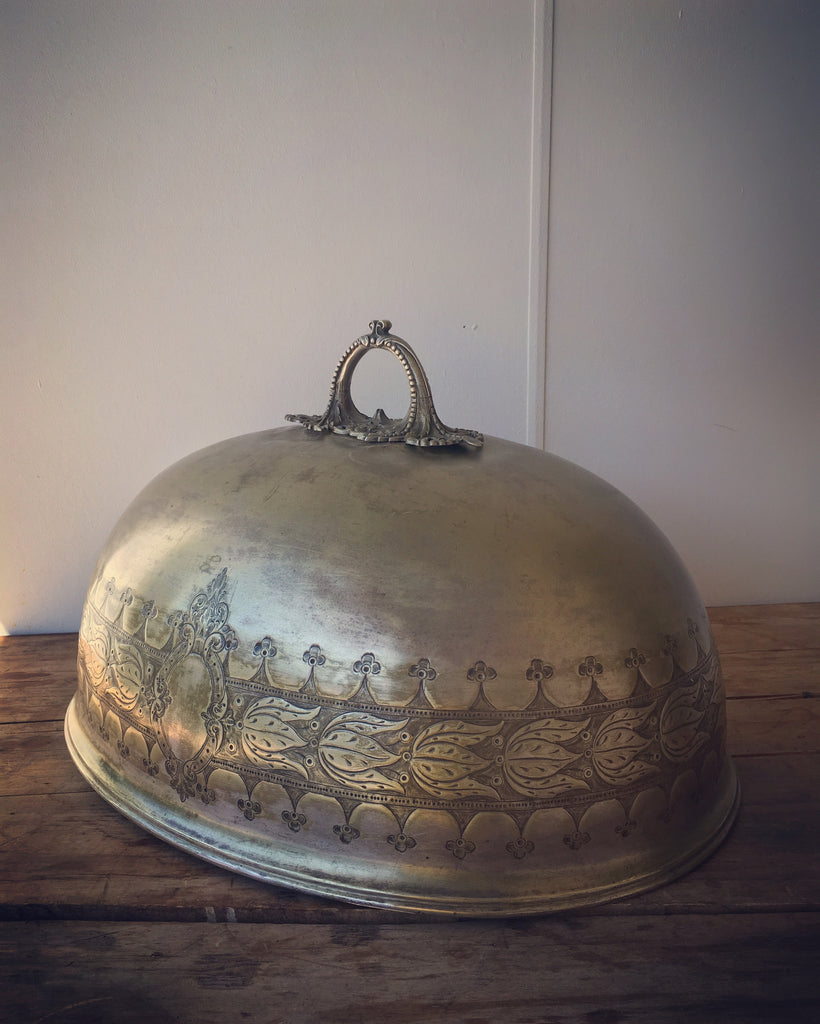 SOLD - French Plated Cloche Cover