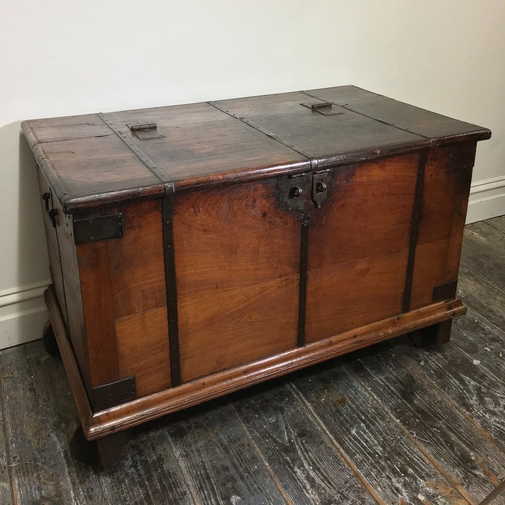 Indian Teak Dowry Chest