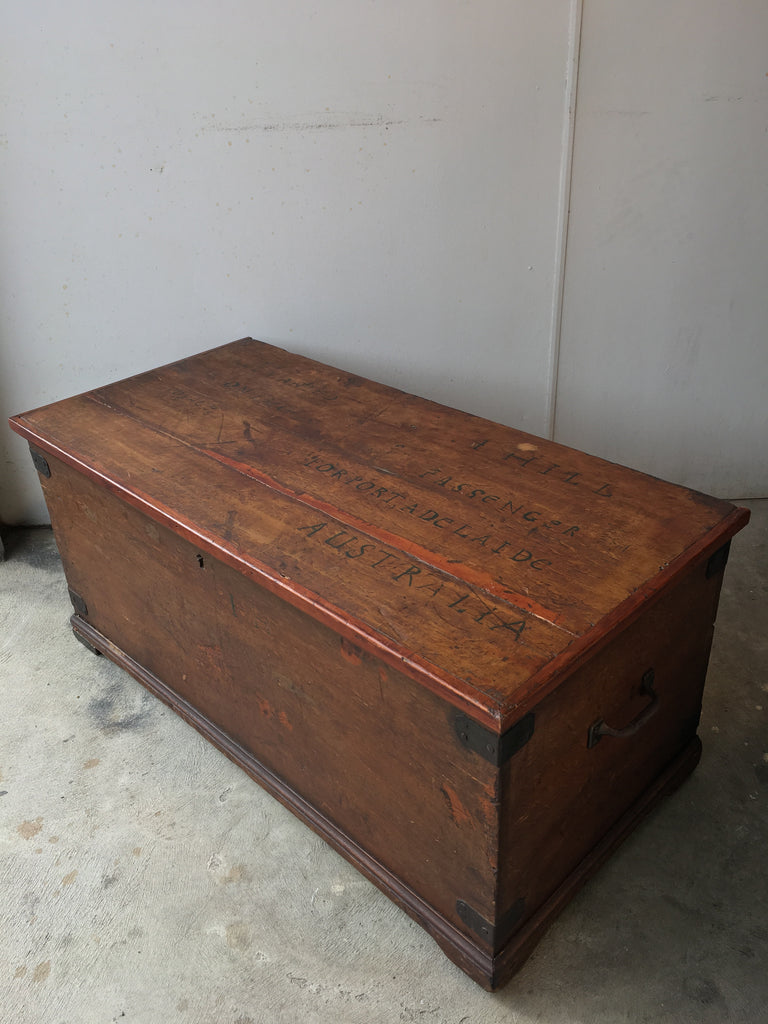 SOLD - Seaman's Trunk