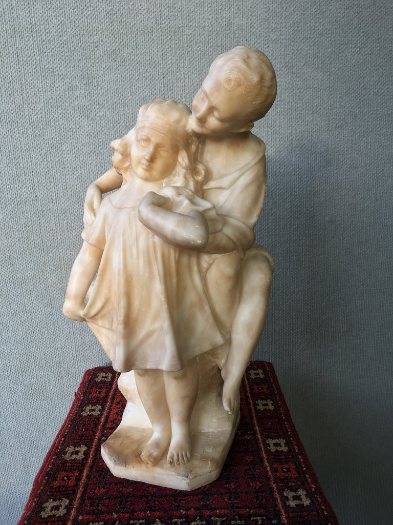 19th Century Italian Alabaster Figural Group