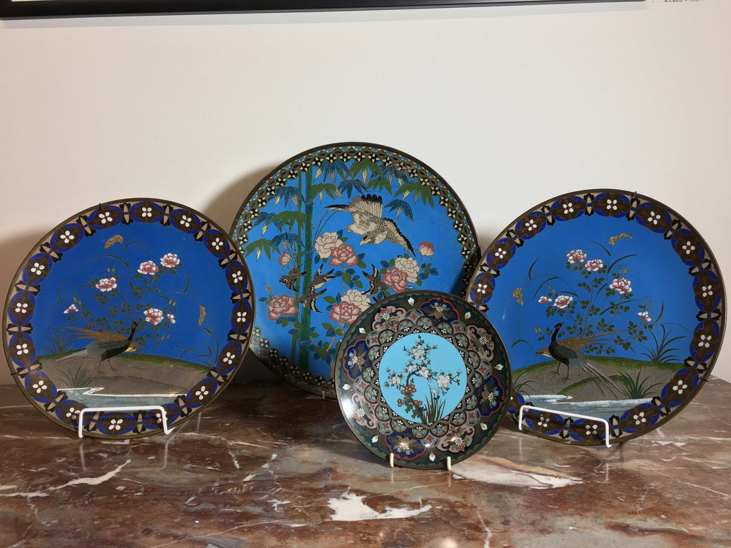 Meiji Period Cloisonne Chargers