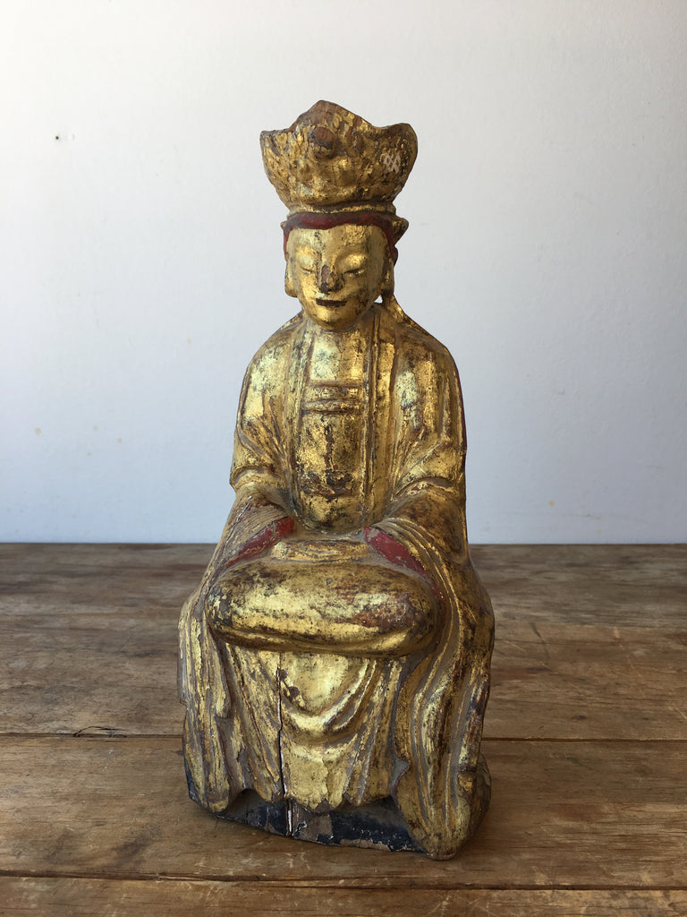 Chinese Giltwood Guanyin Figure