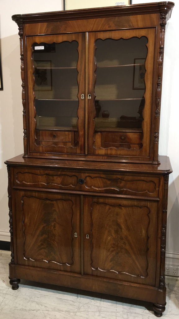 French Mahogany Louis Philippe Bookcase