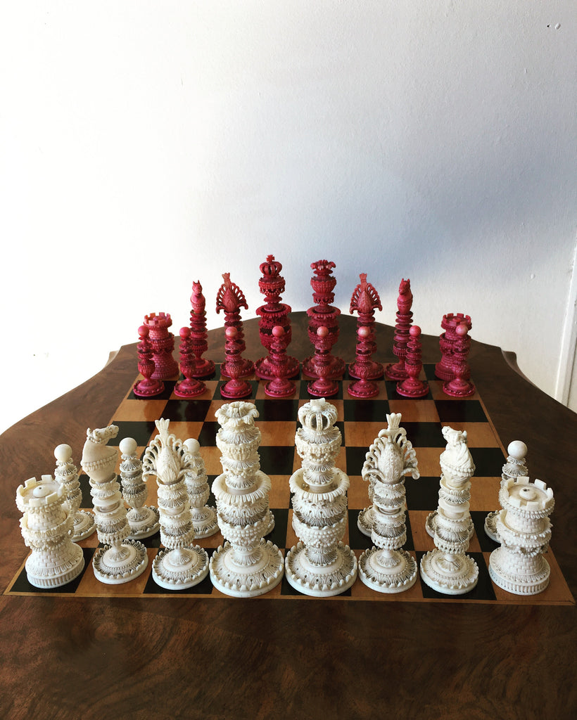 Indian Carved Chess Set