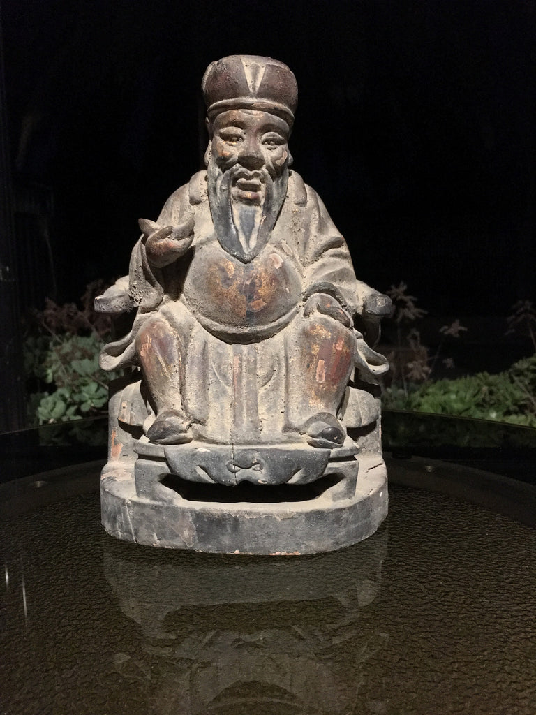 Chinese Giltwood Cai Shen Figure