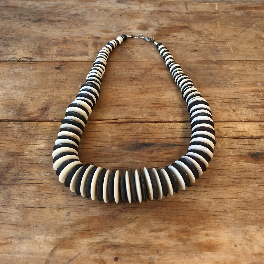 A Vintage African Disc Necklace