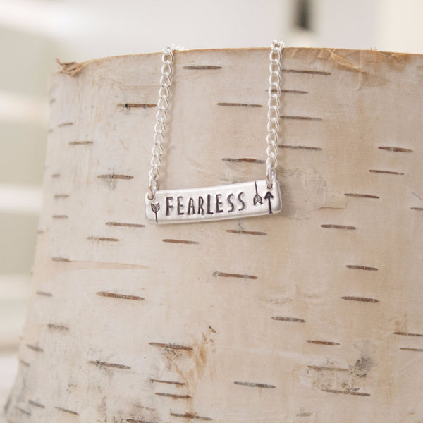 """Fearless"" Bar Necklace"