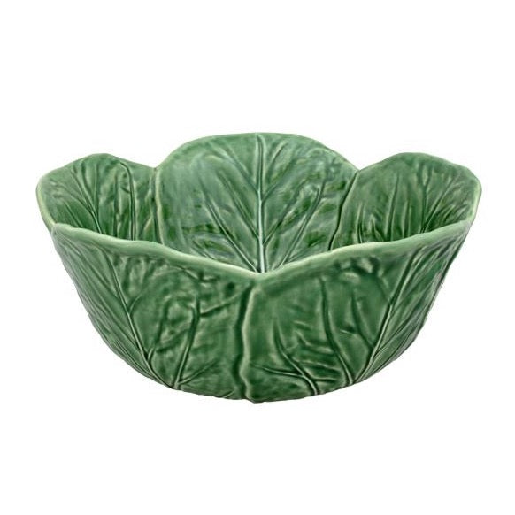 Bordallo Pinheiro - Green cabbage collection - Salad Bowl 29.5cm