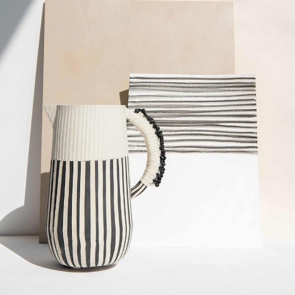 Black & White Tall Jug