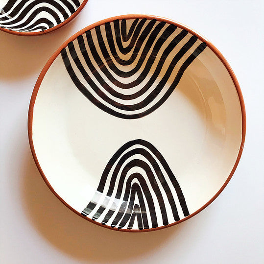Casa Cubista - Bold Black Pattern Bowl - Various Patterns