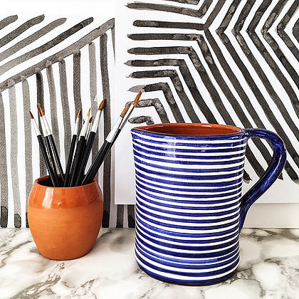 Casa Cubista  - Classic Striped 1L Jug - 2 Colours