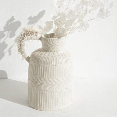 White Textured jug