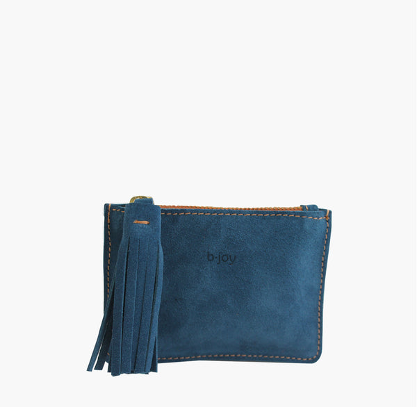 Bjoy - Kika Blue Suede Coin Purse