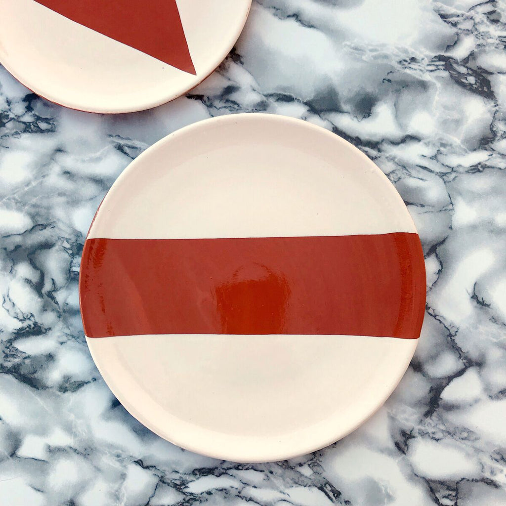 Casa Cubista - Dinner Plate - Dipped Rectangle