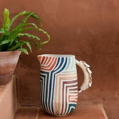 Tall Stripe jug