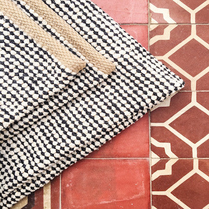 Casa Cubista pipoca rug 100 x 150 THREE COLOURS AVAILABLE