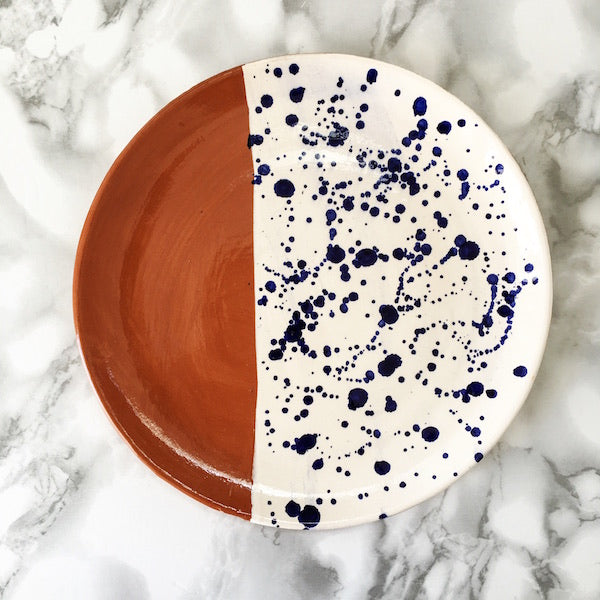 Casa Cubista - Half Salpico Dinner Plate - 2 Colours Available