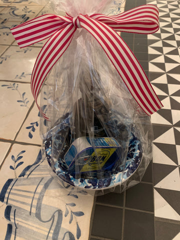 Gift Set - Small Blue Flower Bowl w/ cellophane - 2 Options